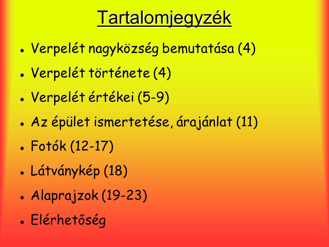 Tartalomjegyzék Verpelét nagyközség bemutatása (4)