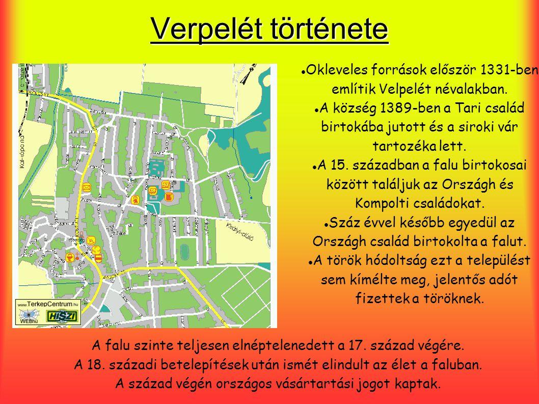 Verpelét története Okleveles források először 1331-ben említik Velpelét névalakban.