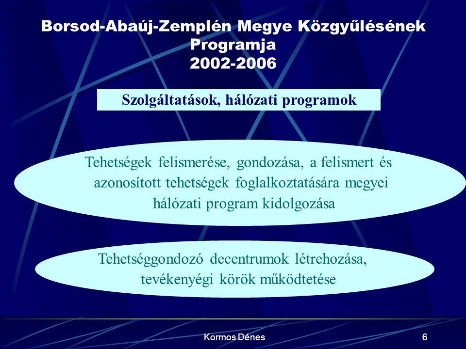 Borsod-Abaúj-Zemplén Megye Közgyűlésének Programja 2002-2006