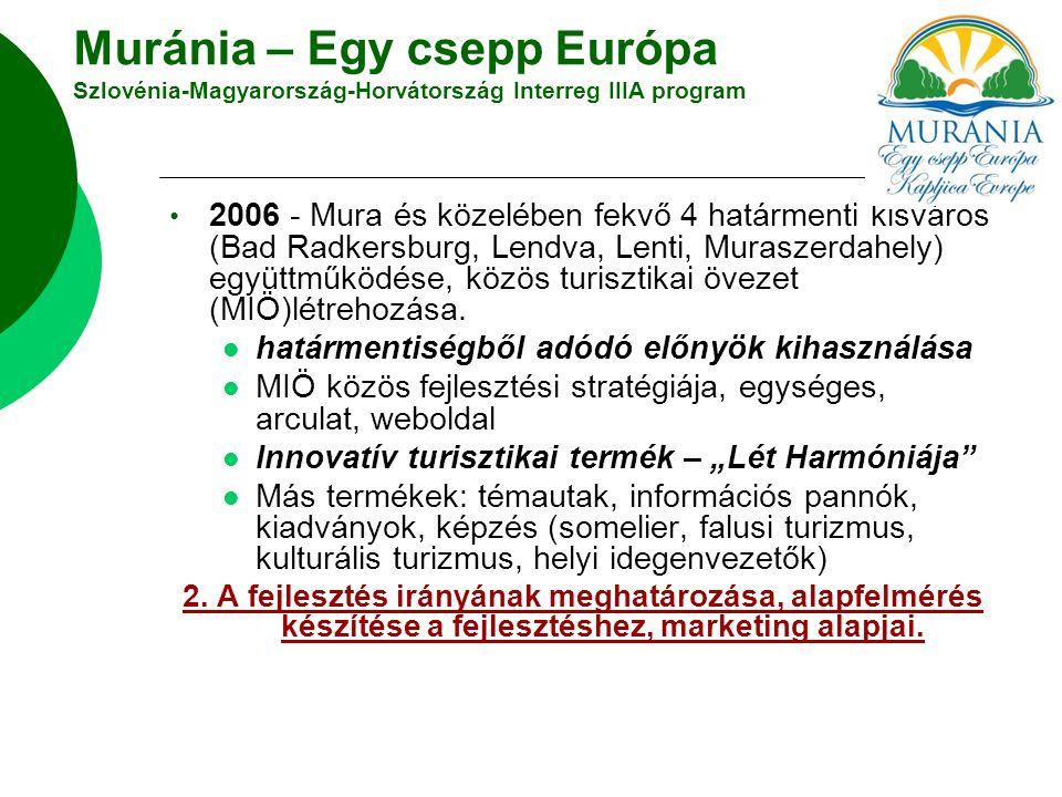 Muránia – Egy csepp Európa Szlovénia-Magyarország-Horvátország Interreg IIIA program