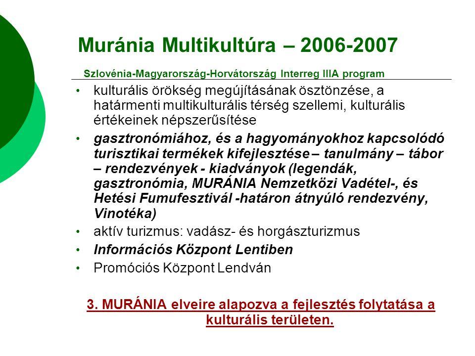 Muránia Multikultúra – 2006-2007 Szlovénia-Magyarország-Horvátország Interreg IIIA program