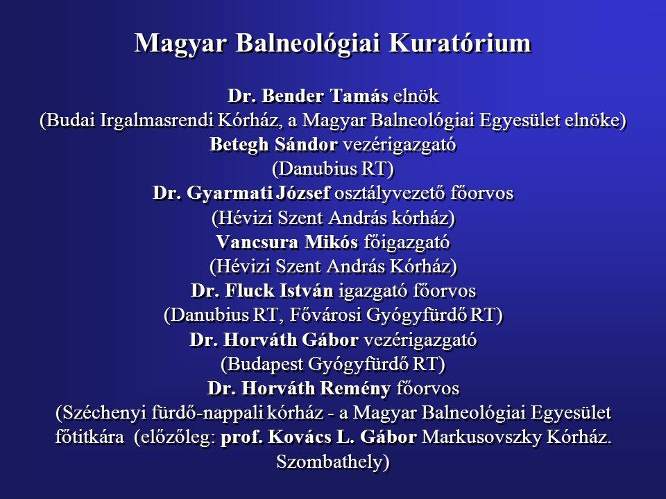 Magyar Balneológiai Kuratórium Dr