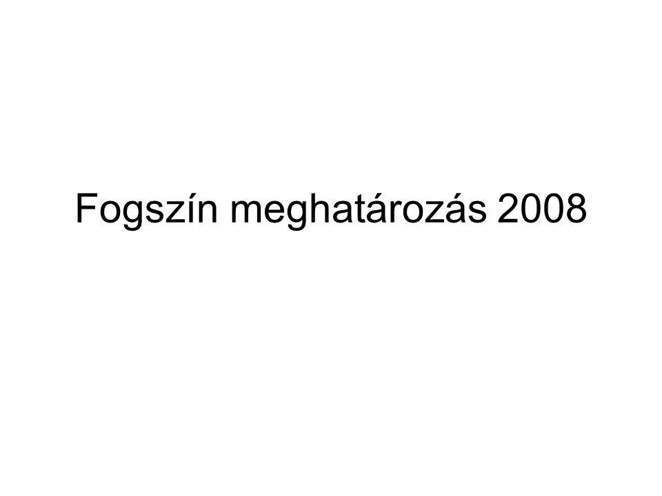 Fogszín meghatározás 2008