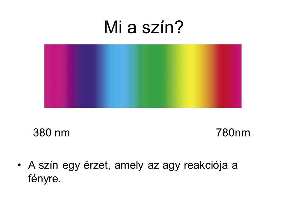 Mi a szín. 380 nm 780nm.