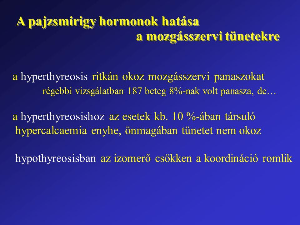 A pajzsmirigy hormonok hatása a mozgásszervi tünetekre