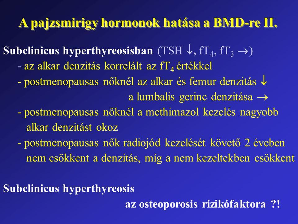A pajzsmirigy hormonok hatása a BMD-re II.