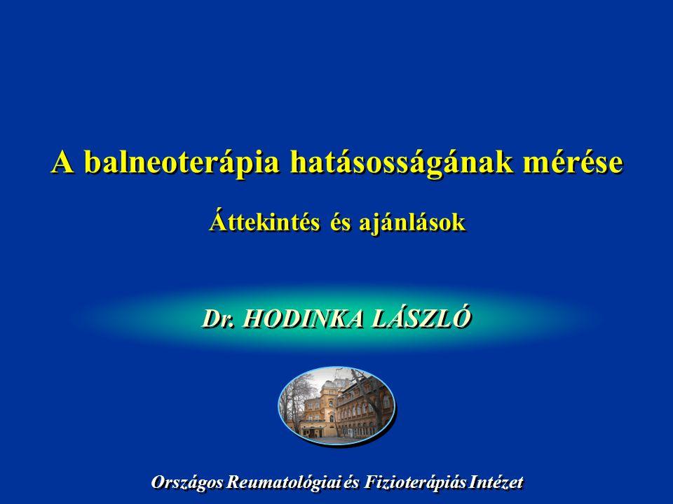 A balneoterápia hatásosságának mérése