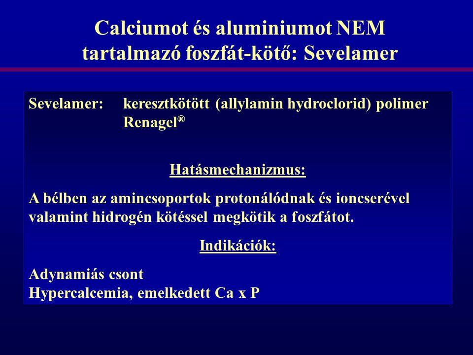 Calciumot és aluminiumot NEM tartalmazó foszfát-kötő: Sevelamer
