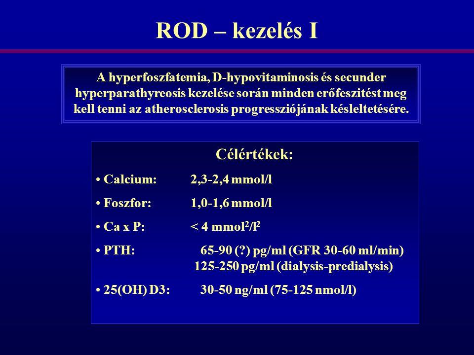 ROD – kezelés I Célértékek: