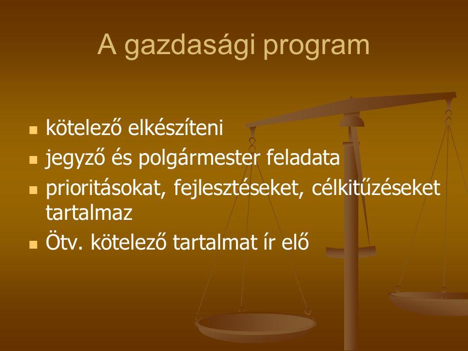 A gazdasági program kötelező elkészíteni