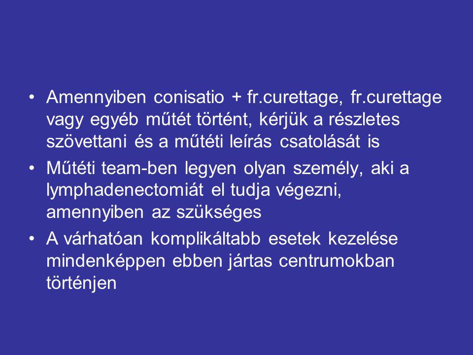 Amennyiben conisatio + fr. curettage, fr