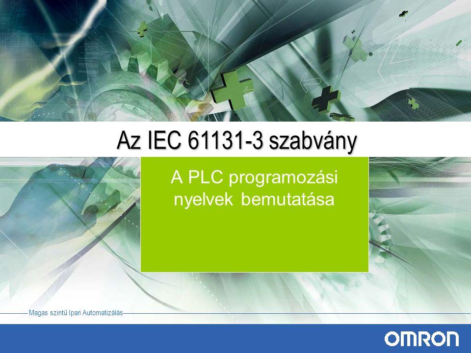 A PLC programozási nyelvek bemutatása