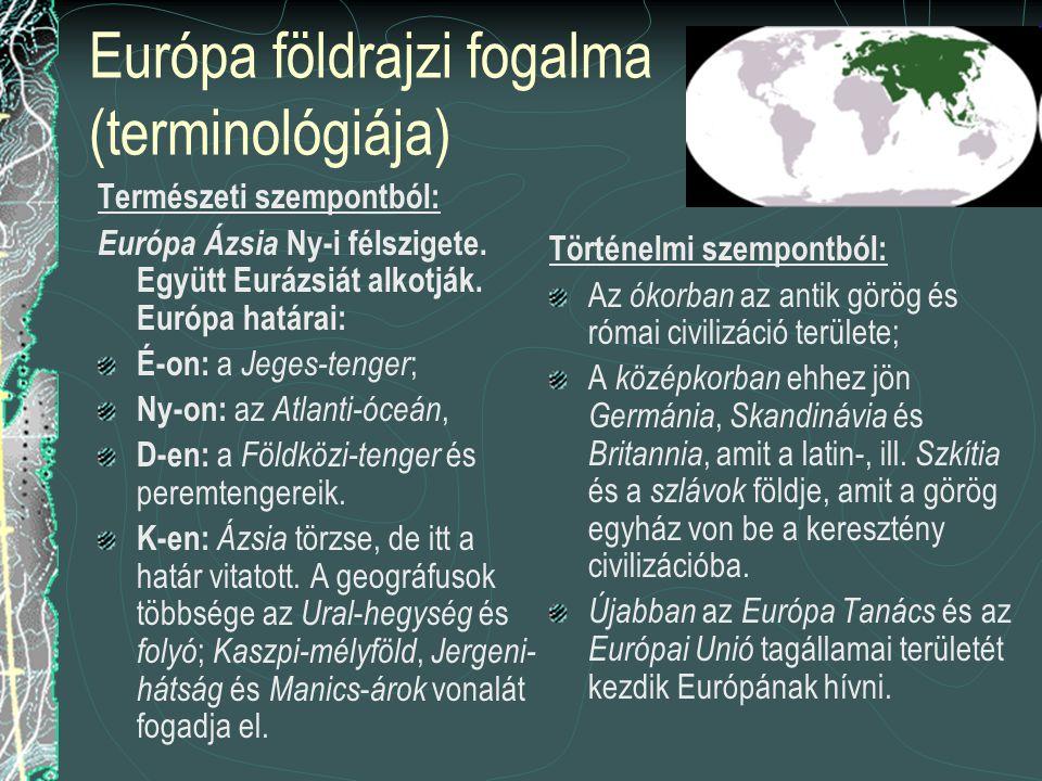 Európa földrajzi fogalma (terminológiája)