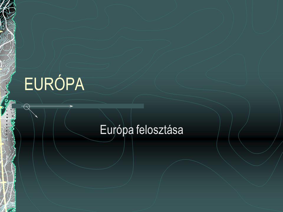 EURÓPA Európa felosztása