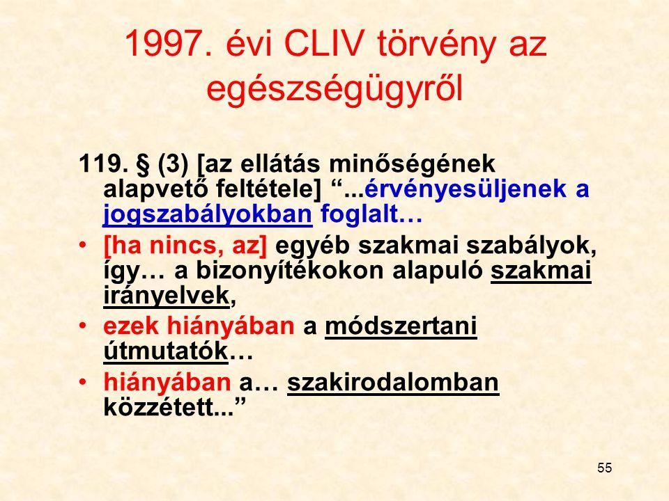 1997. évi CLIV törvény az egészségügyről
