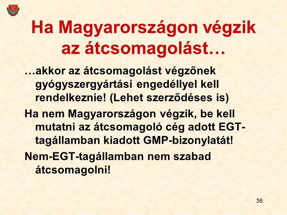 Ha Magyarországon végzik az átcsomagolást…