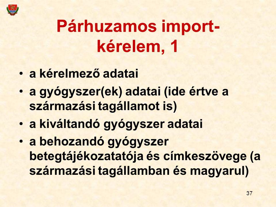 Párhuzamos import-kérelem, 1
