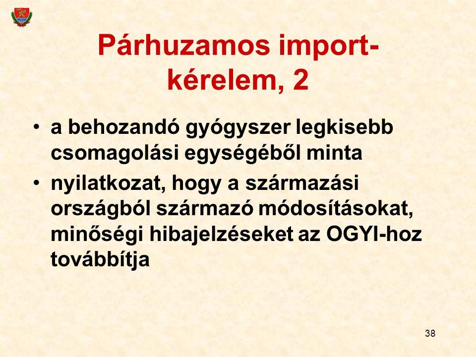 Párhuzamos import-kérelem, 2