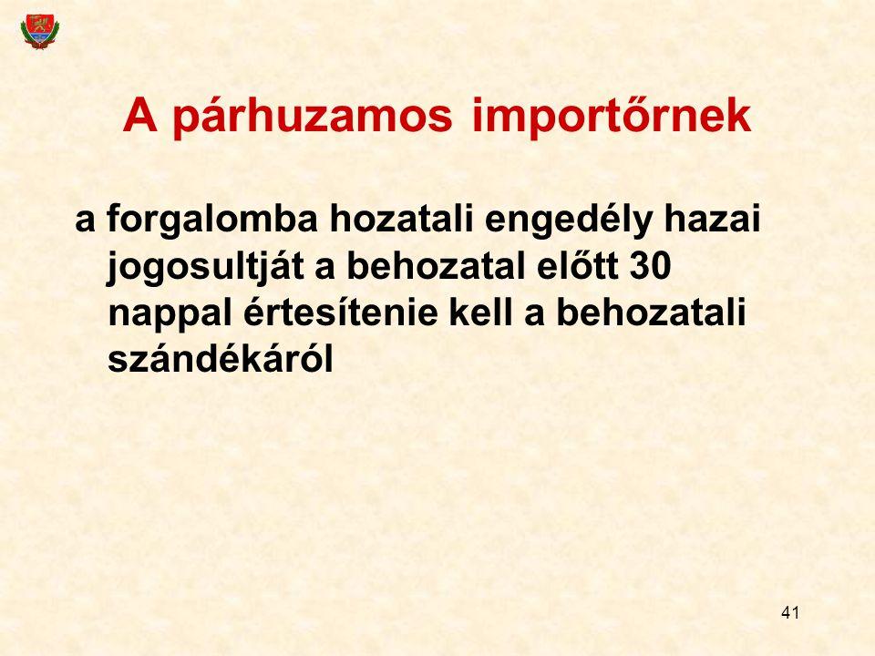 A párhuzamos importőrnek
