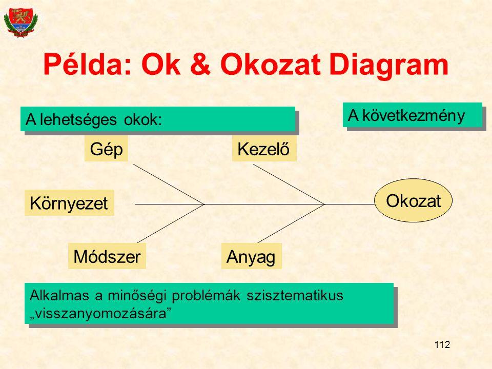 Példa: Ok & Okozat Diagram