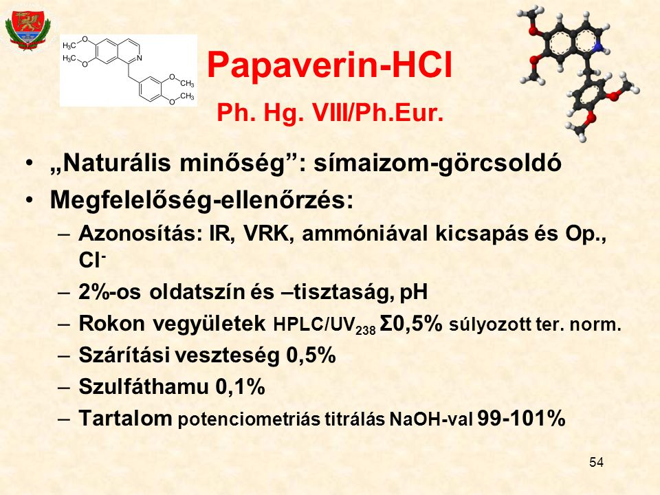 Papaverin-HCl Ph. Hg. VIII/Ph.Eur.