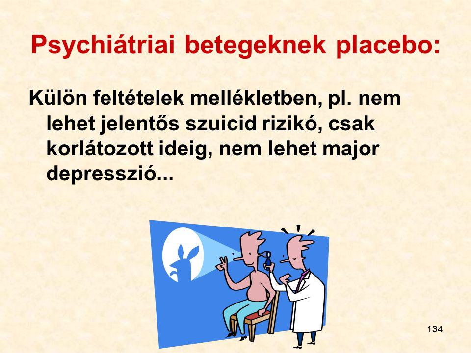Psychiátriai betegeknek placebo: