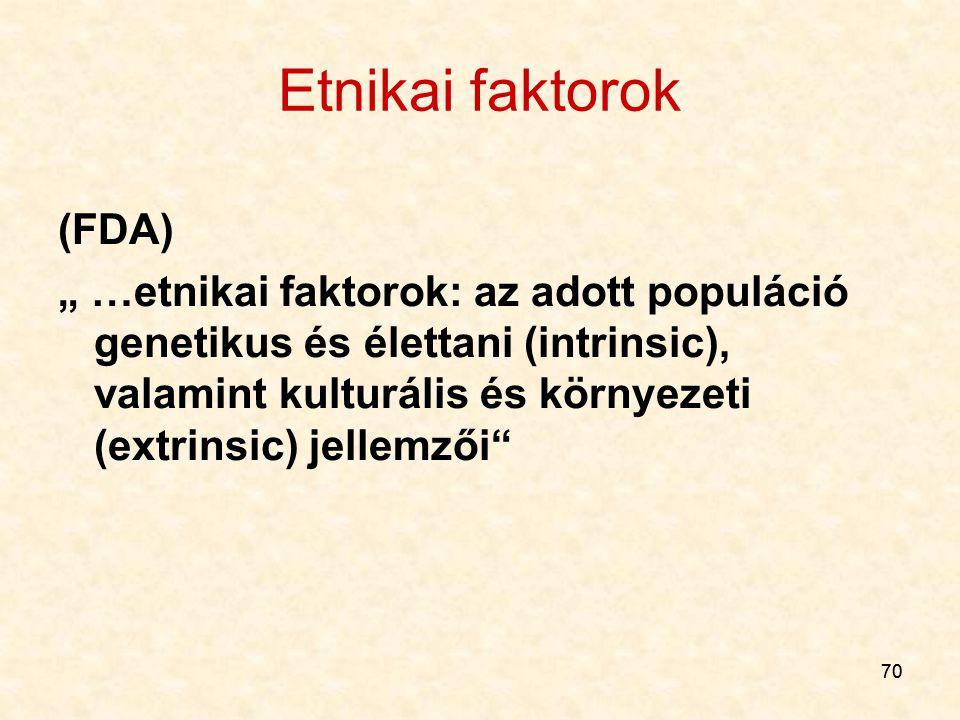 Etnikai faktorok (FDA)