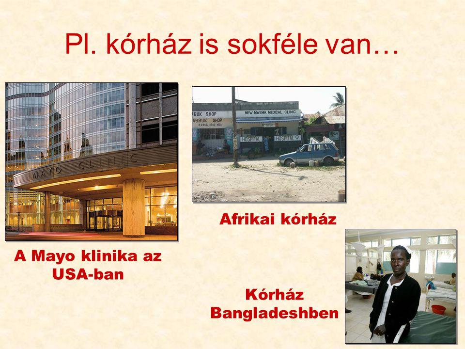 Pl. kórház is sokféle van…