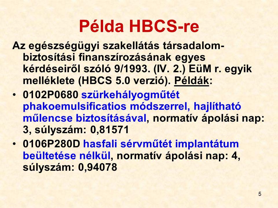 Példa HBCS-re