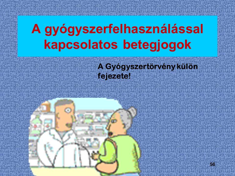 A gyógyszerfelhasználással kapcsolatos betegjogok