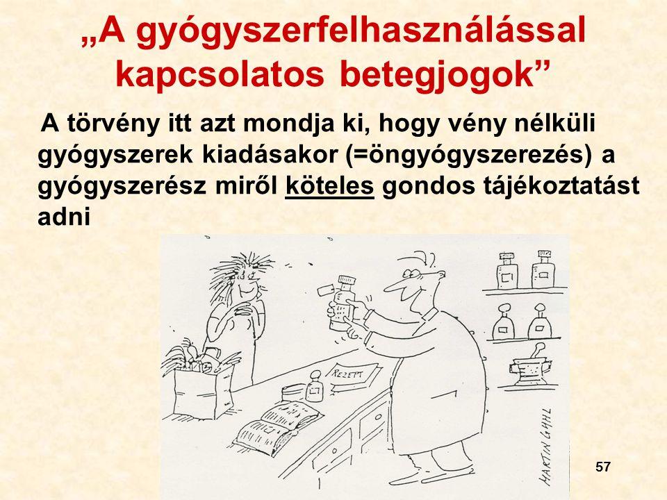 """""""A gyógyszerfelhasználással kapcsolatos betegjogok"""