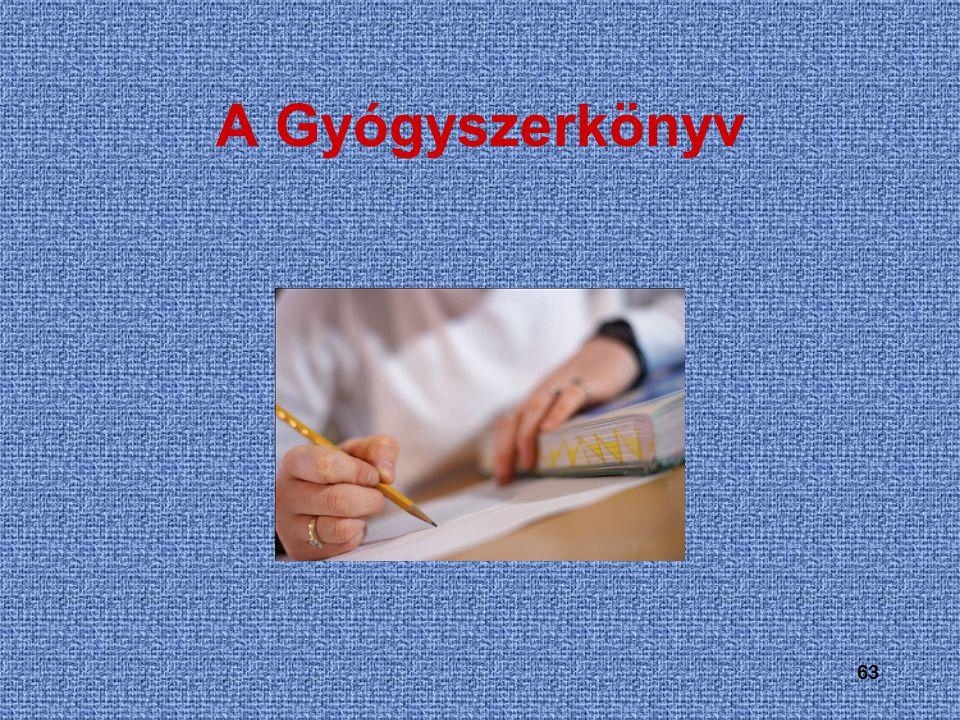 A Gyógyszerkönyv 63