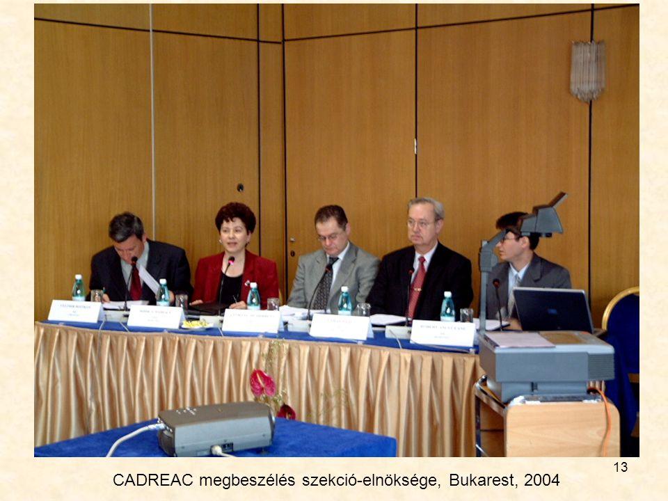 CADREAC megbeszélés szekció-elnöksége, Bukarest, 2004