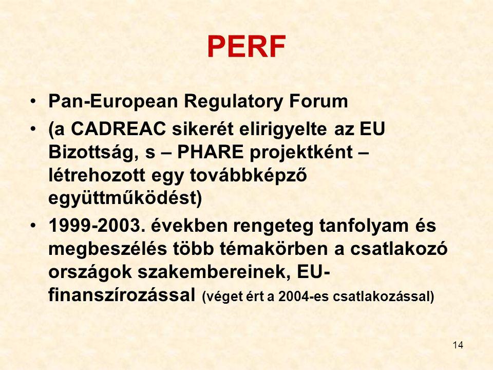 PERF Pan-European Regulatory Forum