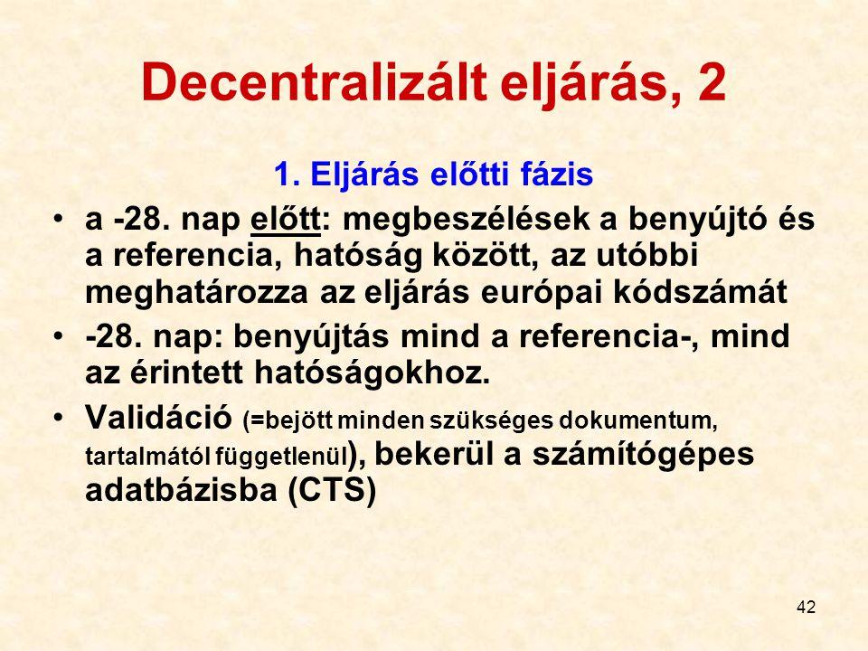 Decentralizált eljárás, 2