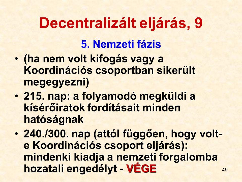 Decentralizált eljárás, 9