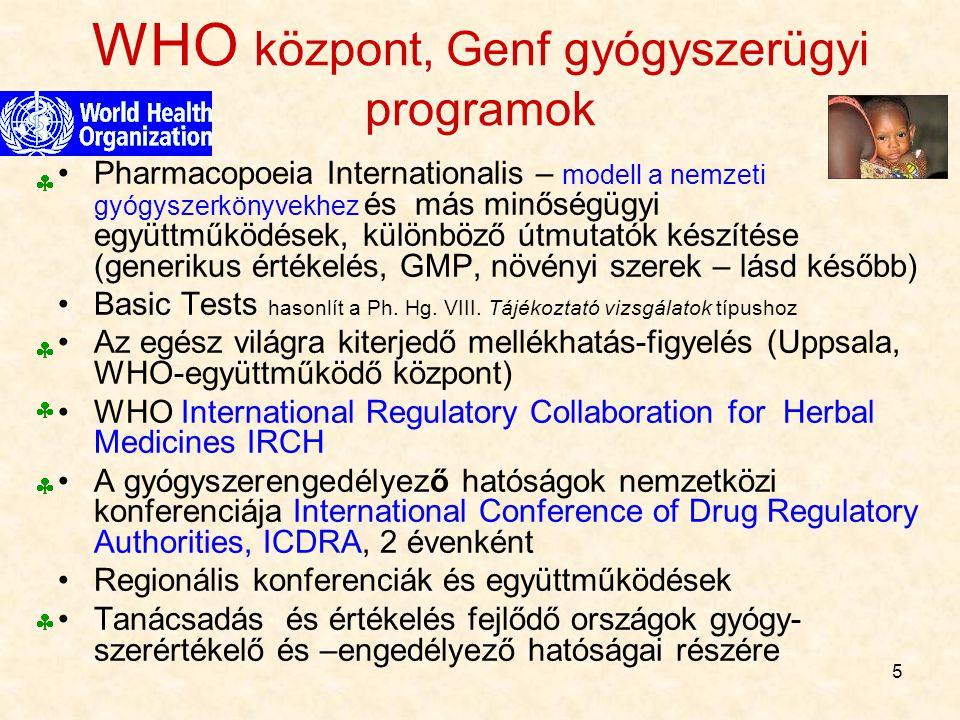 WHO központ, Genf gyógyszerügyi programok