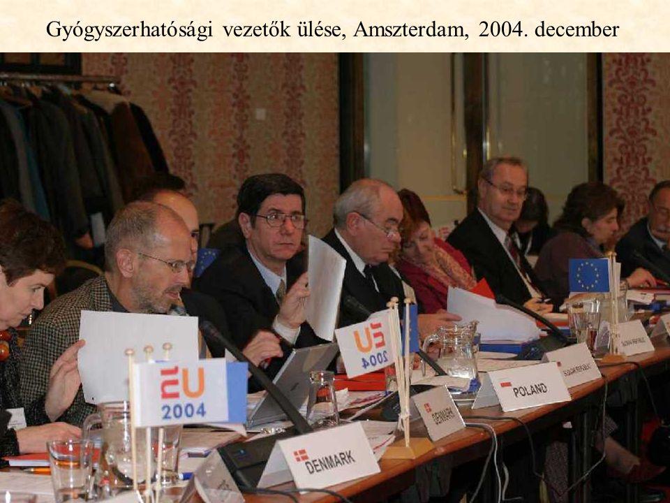 Gyógyszerhatósági vezetők ülése, Amszterdam, 2004. december