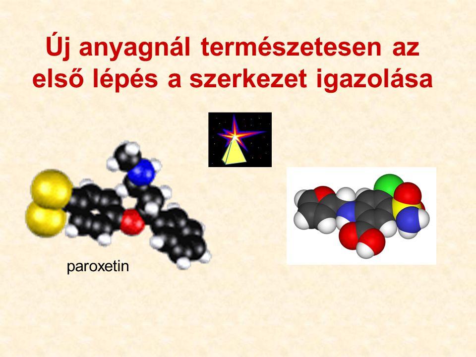 Új anyagnál természetesen az első lépés a szerkezet igazolása