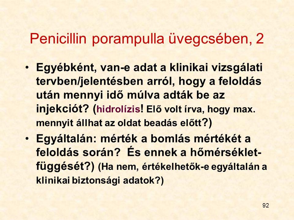 Penicillin porampulla üvegcsében, 2