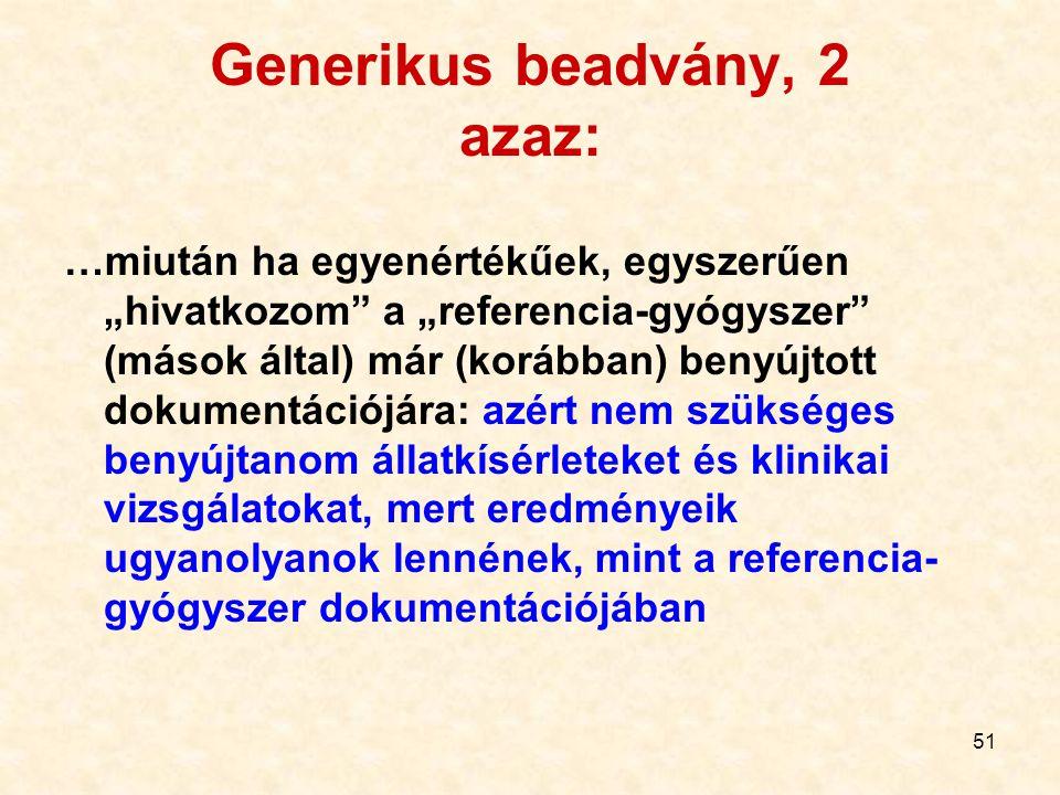 Generikus beadvány, 2 azaz: