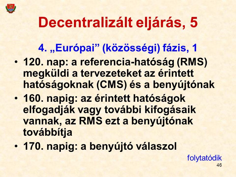 Decentralizált eljárás, 5