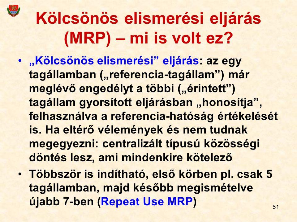 Kölcsönös elismerési eljárás (MRP) – mi is volt ez