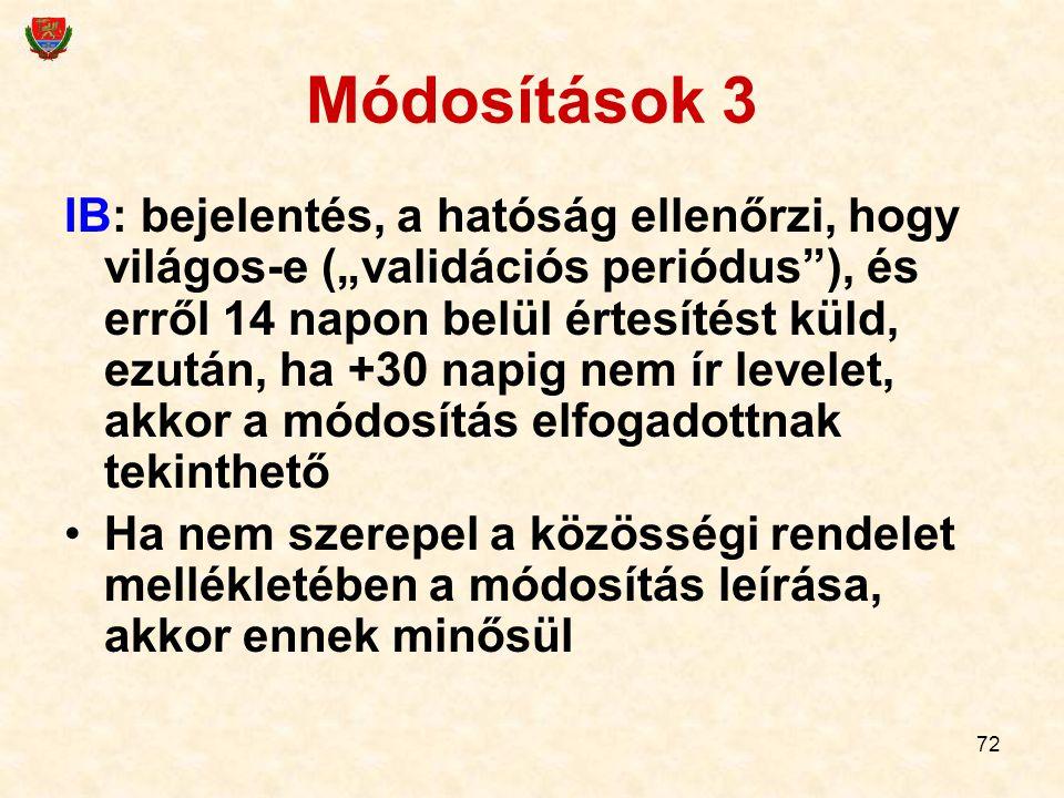 Módosítások 3