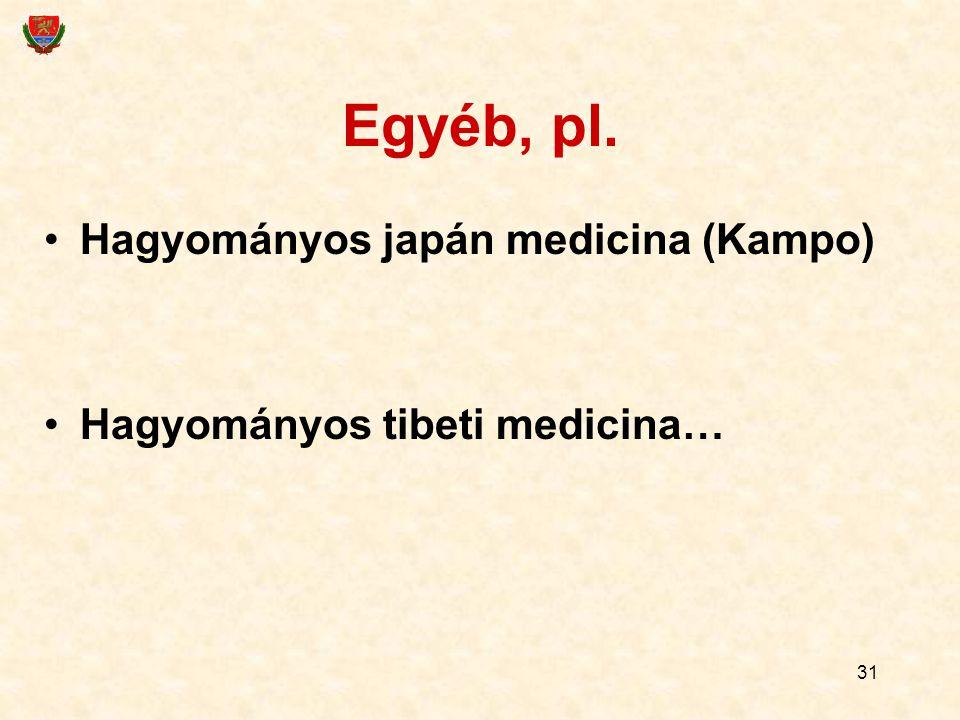 Egyéb, pl. Hagyományos japán medicina (Kampo)