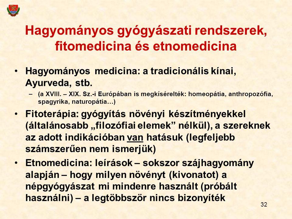 Hagyományos gyógyászati rendszerek, fitomedicina és etnomedicina