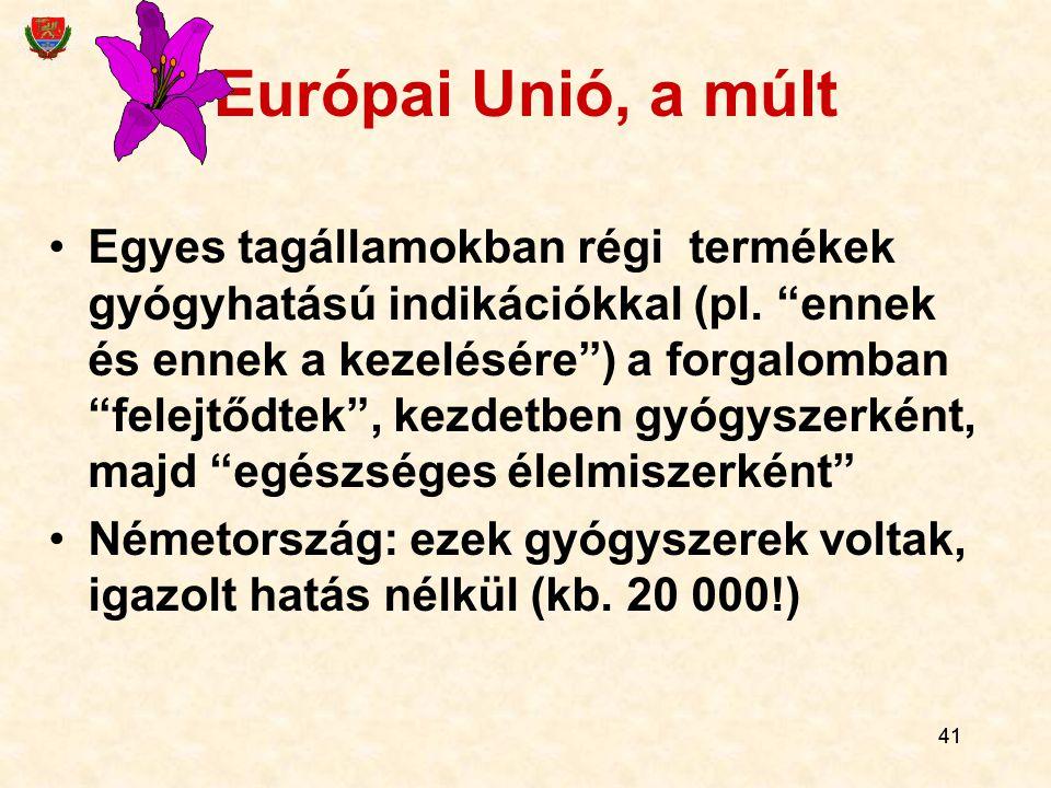 Európai Unió, a múlt
