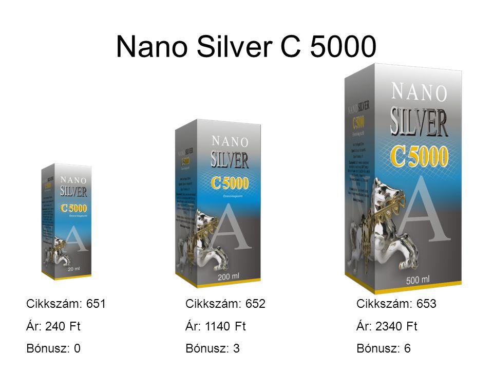 Nano Silver C 5000 Cikkszám: 651 Ár: 240 Ft Bónusz: 0 Cikkszám: 652