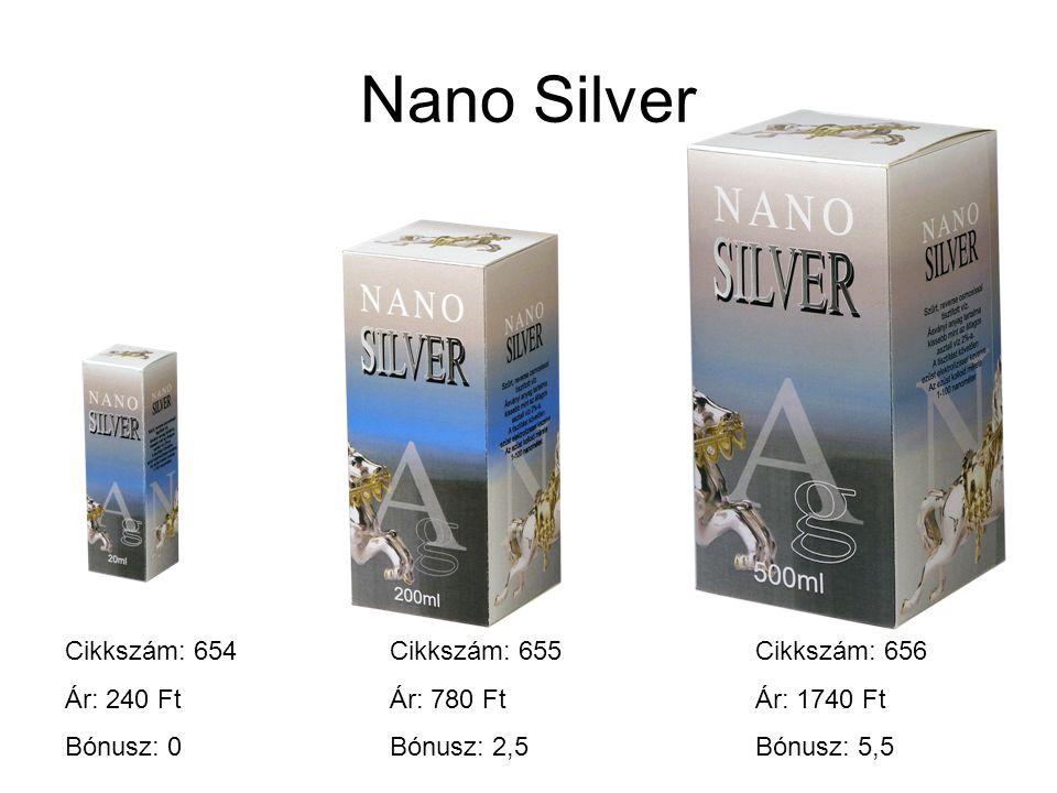 Nano Silver Cikkszám: 654 Ár: 240 Ft Bónusz: 0 Cikkszám: 655