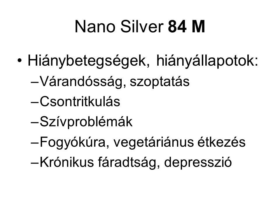 Nano Silver 84 M Hiánybetegségek, hiányállapotok: